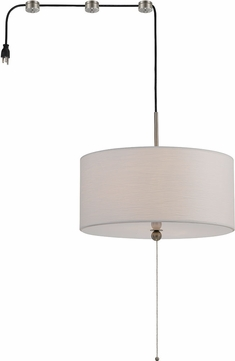 Cal FX-3524-SW2 Swag Off White Drum Hanging Light