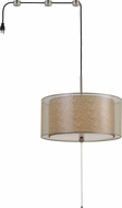 Cal FX-3527-SW2 Swag Clear Drum Pendant Light Fixture