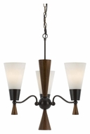 Cal FX-3528/3 Verona Small 3 Lamp 20 Inch Diameter Contemporary Chandelier - Mahogany