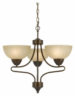 Cal FX-3529/3 Romano Transitional 21 Inch Diameter 3 Lamp Mini Chandelier Lighting Fixture