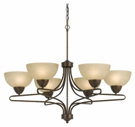 Cal FX-3529/6 Romano 6 Lamp Rust Finish 33 Inch Diameter Transitional Chandelier