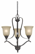 Cal FX-3530/3 Riverton Transitional 21 Inch Diameter 3 Lamp Hanging Chandelier