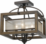 Cal FX-3536-1C Mission Wood Ceiling Lighting