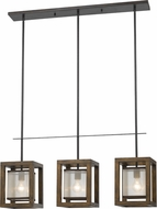 Cal FX-3536-3PI Mission Wood Multi Pendant Light