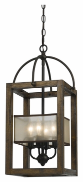 Cal FX-3536/4 Dark Bronze Finish 23 Inch Tall Contemporary Drop Lighting Fixture