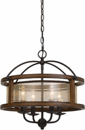 Cal FX-3536-4G Contemporary Wood Chandelier Light