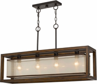 Cal FX-3536-4H Modern Wood Island Lighting