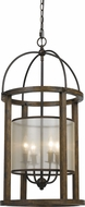 Cal FX-3536-4L Mission Wood Foyer Lighting