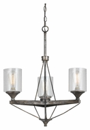 Cal FX-3538/3 Cresco 3 Lamp 20 Inch Diameter Textured Steel Mini Chandelier Light Fixture