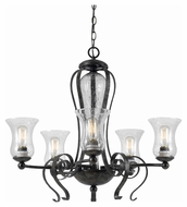 Cal FX-3548/5 Classic Transitional Eternity Finish Chandelier Light