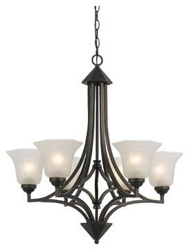 Cal FX-3551/6 Westbrook 21.5  Tall Transitional Chandelier