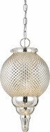 Cal FX-3572-1P Teardrop Glass Mini Pendant Lighting Fixture