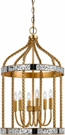 Cal FX-3599-6 Glenwood Modern French Gold/Antiqued Mirror Entryway Light Fixture