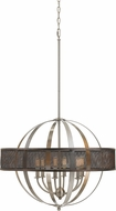 Cal FX-3622-6 Willow Contemporary Brushed Steel Chandelier Lamp