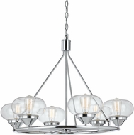 Cal FX-3624-6 Maywood Contemporary Chrome Chandelier Light