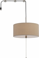 Cal FX-3628-SW2 Swag Linen Drum Hanging Pendant Light