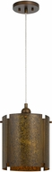 Cal FX-3637-1P Rochefort Distress Gold Drum Hanging Lamp