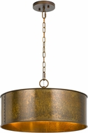 Cal FX-3637-3 Rochefort Distress Gold Drum Hanging Light