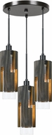 Cal FX-3641-3 Reggio Modern Wood Multi Pendant Lighting