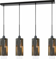 Cal FX-3641-4 Reggio Contemporary Wood Multi Pendant Light