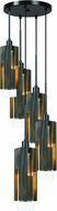 Cal FX-3641-5 Reggio Modern Wood Multi Lighting Pendant