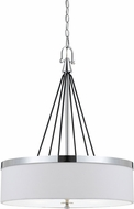 Cal FX-3642-3 Rimini Contemporary Chrome Drum Ceiling Light Pendant