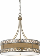 Cal FX-3645-5 Ashland Contemporary Antique Silver Drum Drop Lighting Fixture