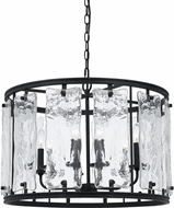 Cal FX-3650-6 Everette Modern Blacksmith Drum Hanging Light