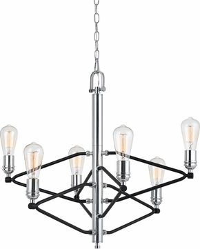 Cal FX-3655-6 George Contemporary Chrome Chandelier Light