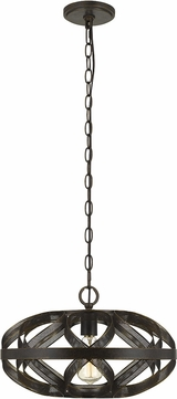 Cal FX-3659-1 Alma Contemporary Dark Bronze 16  Drop Ceiling Lighting
