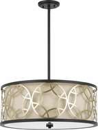 Cal FX-3661-4 Carmel Rust / Antique Brass Drum Pendant Light