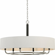 Cal FX-3667-6 Alava Modern Chrome Drum Pendant Light Fixture