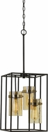 Cal FX-3680-3 Cremona Contemporary Black / Antique Brass Foyer Lighting