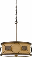 Cal FX-3681-4 Ragusa Modern Rust Drum Pendant Lighting Fixture