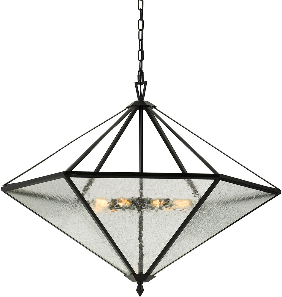 Cal FX-3684-9 Addison Contemporary Black Hanging Light Fixture - CAL ...