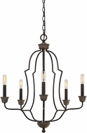 Cal FX-3689-5 Lebrija Contemporary Textured Bronze Mini Chandelier Lamp
