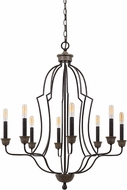 Cal FX-3689-8 Lebrija Modern Textured Bronze Chandelier Light