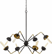 Cal FX-3697-8 Ravenna Modern Black Smith Kitchen Island Lighting