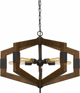 Cal FX-3699-5 Varna Contemporary Wood Foyer Lighting
