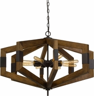 Cal FX-3699-8 Varna Modern Wood Foyer Light Fixture
