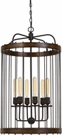 Cal FX-3700-6 Cantania Modern Metal Entryway Light Fixture