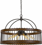 Cal FX-3700-6L Cantania Contemporary Metal Drum Hanging Lamp