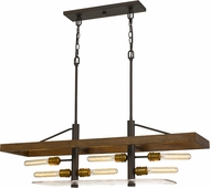 Cal FX-3701-6 Craiova Modern Wood Kitchen Island Lighting