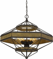 Cal FX-3702-6 Alicante Contemporary Wood / Black Lighting Pendant
