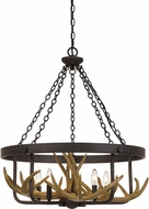 Cal FX-3703-5 Angelo Country Iron Pendant Lighting