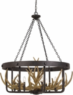Cal FX-3703-8 Angelo Rustic Iron Hanging Light