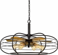 Cal FX-3711-6 Margo Modern Dark Bronze Hanging Pendant Light