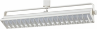 Cal HT-633M-WH Contemporary White LED Home Track Lighting Flush Mount Light Fixture