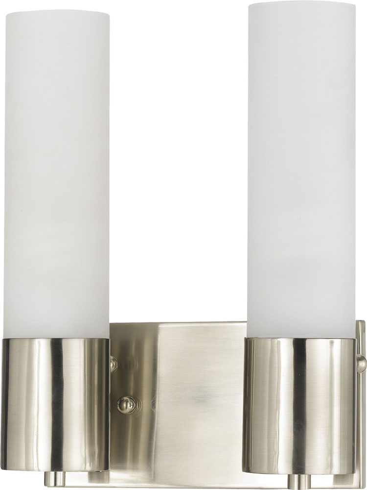 Cal LA-198-2L Brushed Steel Fluorescent Vanity Light - CAL-LA-198-2L