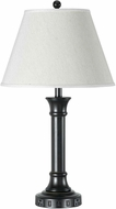 Cal LA-60007TB-7RDB Dark Bronze / Wood Table Lamp Lighting w/ USB and Power Outlets